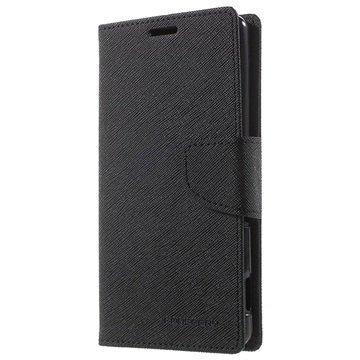 Sony Xperia M5 Xperia M5 Dual Mercury Goospery Fancy Diary Lompakkokotelo Musta