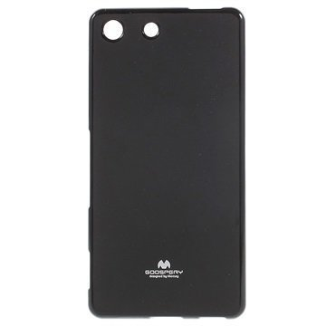 Sony Xperia M5 Xperia M5 Dual Mercury Goospery TPU Kotelo Musta