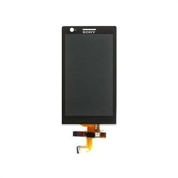 Sony Xperia P Front Cover & LCD Display Black