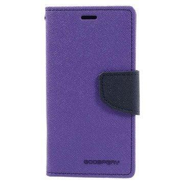 Sony Xperia X Compact Mercury Goospery Fancy Diary Wallet Case Purple