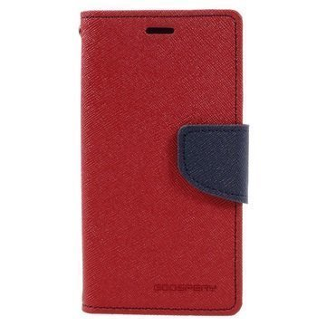 Sony Xperia X Compact Mercury Goospery Fancy Diary Wallet Case Red