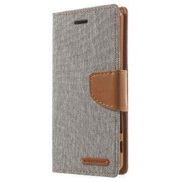Sony Xperia X Mercury Goospery Canvas Diary Lompakkokotelo Harmaa