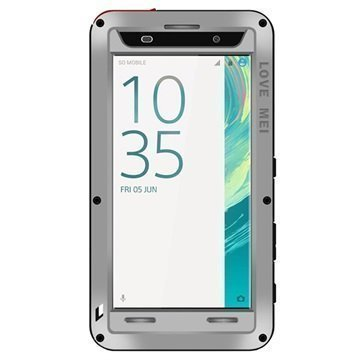 Sony Xperia XA Xperia XA Dual Love Mei Powerful Case Silver