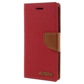 Sony Xperia XA Xperia XA Dual Mercury Goospery Canvas Diary Case Punainen