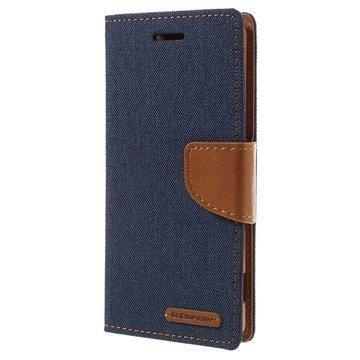 Sony Xperia XA Xperia XA Dual Mercury Goospery Canvas Diary Case Tummansininen