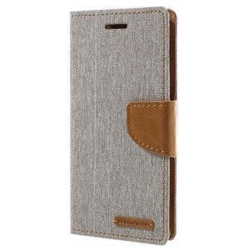 Sony Xperia XA Xperia XA Dual Mercury Goospery Canvas Diary Lompakkokotelo Harmaa