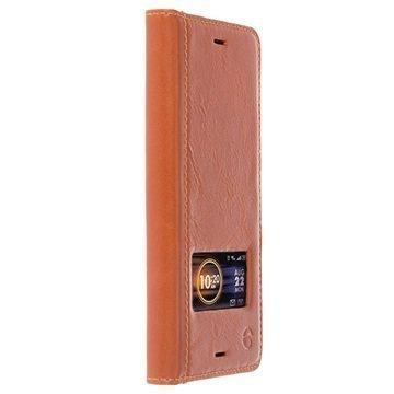 Sony Xperia XZ Krusell Sigtuna Smart Kotelo Konjakki