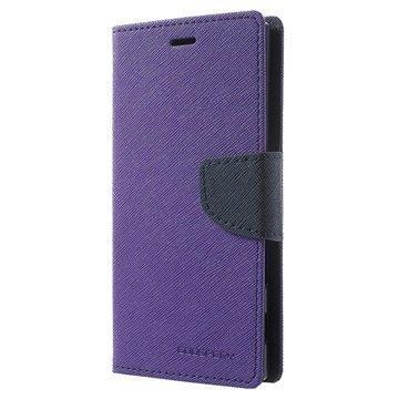 """Sony Xperia XZ Mercury Goospery Fancy Diary lompakkokotelo â"""" Violetti"""