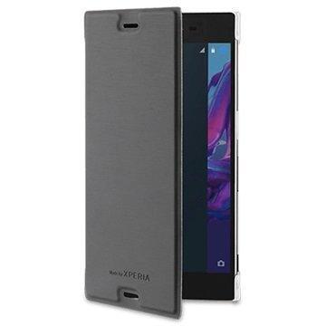 Sony Xperia XZ Roxfit Premium Book Kotelo Musta