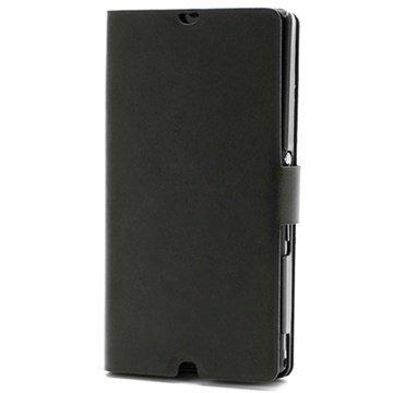 Sony Xperia Z Doormoon Wallet Nahkakotelo Musta