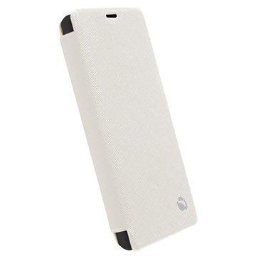 Sony Xperia Z1 Compact Krusell Malmo Wallet Kotelo Valkoinen