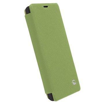 Sony Xperia Z1 Compact Krusell Malmo Wallet Kotelo Vihreä