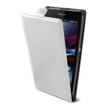 Sony Xperia Z1 Ksix Vertical Flip Leather Case White
