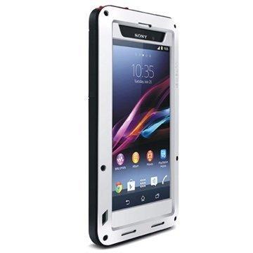Sony Xperia Z1 Love Mei Powerful Hybrid Suojakuori Valkoinen