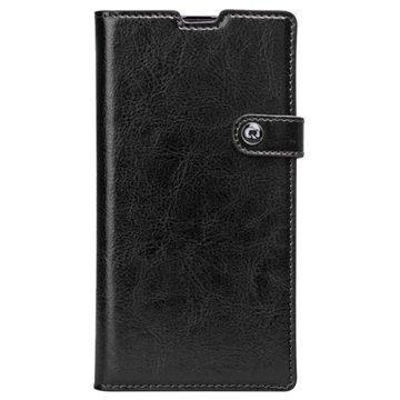 Sony Xperia Z1 Qialino Business Wallet Nahkakotelo Musta