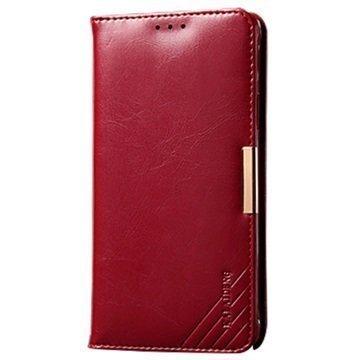 Sony Xperia Z3+ Kalaideng Royale II Nahkainen Lompakkokotelo Punainen