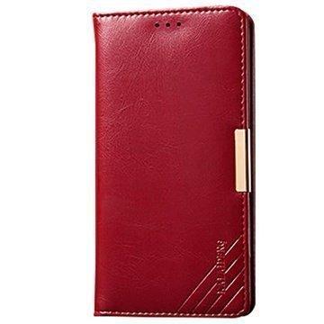 Sony Xperia Z3 Kalaideng Royale II Nahkainen Lompakkokotelo Punainen
