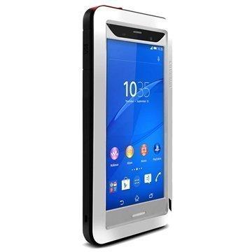 Sony Xperia Z3 Love Mei Powerful Hybrid Suojakuori Hopeinen