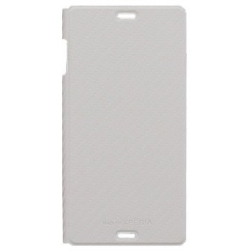 Sony Xperia Z3 Roxfit Slimline Kirjamallinen Läppäkotelo Valkoinen