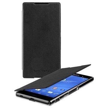 Sony Xperia Z3+ Roxfit Ultra Slim Book Case Black