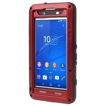 Sony Xperia Z3+ Xperia Z3+ Dual Love Mei Powerful Hybrid Suojakuori Punainen