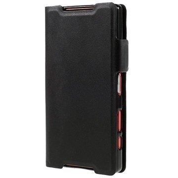 Sony Xperia Z5 Compact Doormoon Lompakkokotelo Musta