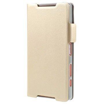 Sony Xperia Z5 Compact Doormoon Lompakkokotelo Samppanja