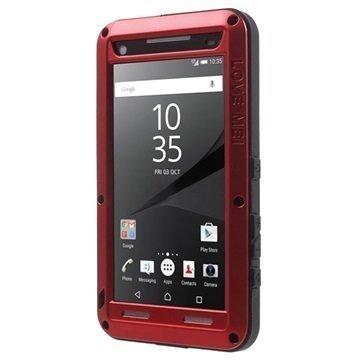 Sony Xperia Z5 Compact Love Mei Powerful Hybrid Suojakuori Punainen