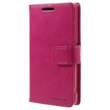 Sony Xperia Z5 Compact Mercury Goospery Blue Moon Diary Lompakkokotelo Kuuma Pinkki