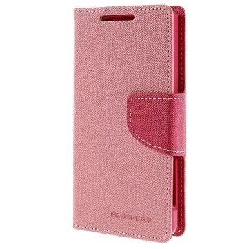 Sony Xperia Z5 Compact Mercury Goospery Fancy Diary Lompakkokotelo Pinkki