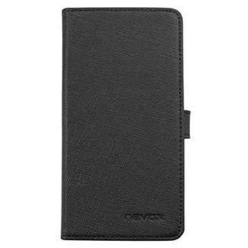 Sony Xperia Z5 Compact Nevox Ordo Folio Kotelo Musta / Harmaa