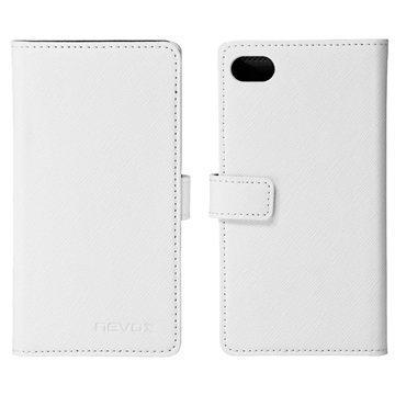Sony Xperia Z5 Compact Nevox Ordo Folio Kotelo Valkoinen / Harmaa