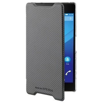 Sony Xperia Z5 Compact Roxfit Ultra Slim Book Kotelo Musta