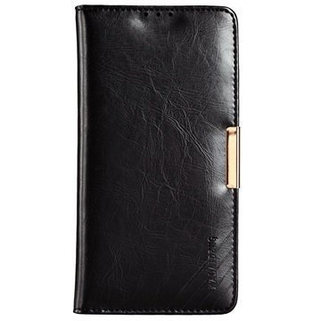 Sony Xperia Z5 Kalaideng Royale II Nahkainen Lompakkokotelo Musta