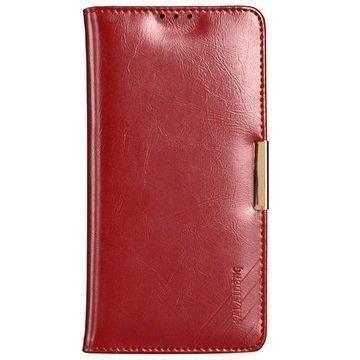Sony Xperia Z5 Kalaideng Royale II Nahkainen Lompakkokotelo Punainen