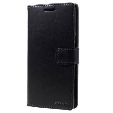 Sony Xperia Z5 Mercury Goospery Blue Moon Diary Lompakkokotelo Musta