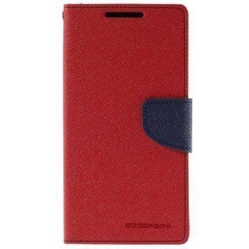 Sony Xperia Z5 Mercury Goospery Fancy Diary Lompakkokotelo Punainen / Tummansininen