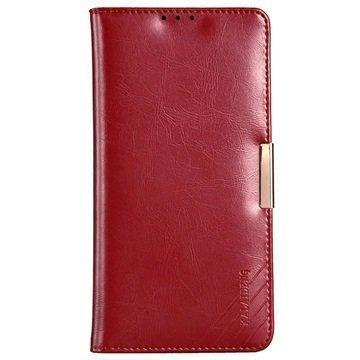 Sony Xperia Z5 Premium Kalaideng Royale II Nahkainen Lompakkokotelo Punainen