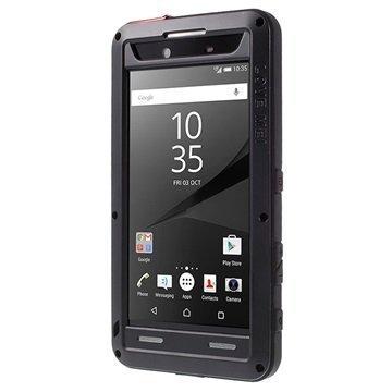 Sony Xperia Z5 Premium Love Mei Powerful Hybrid Suojakuori Musta