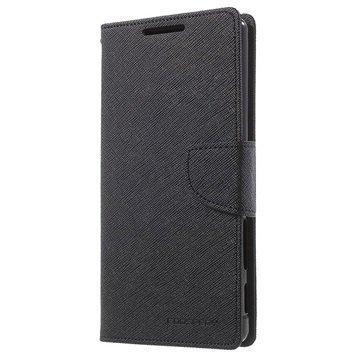 Sony Xperia Z5 Premium Mercury Goospery Fancy Diary Lompakkokotelo Musta