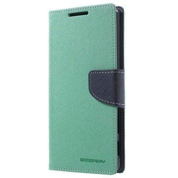 Sony Xperia Z5 Premium Mercury Goospery Fancy Diary Lompakkokotelo Syaani