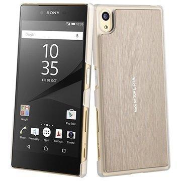 Sony Xperia Z5 Roxfit Titanium Slim Shell Kuori Kulta