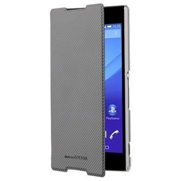 Sony Xperia Z5 Roxfit Ultra Slim Book Kotelo Musta