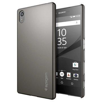 Sony Xperia Z5 Spigen Thin Fit Kotelo Asemetalli