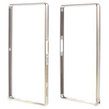 Sony Xperia Z5 Xperia Z5 Dual Love Mei Alumiininen Suojapuskuri Hopea