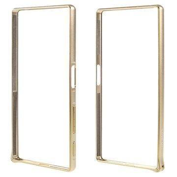 Sony Xperia Z5 Xperia Z5 Dual Love Mei Alumiininen Suojapuskuri Kulta