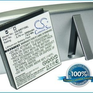 SonyEricsson BA750 Xperia Arc LT15a LT15i yhteensopiva akku laajennetulla takakannella 2500 mAh Hopea