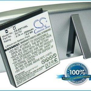SonyEricsson BA750 Xperia Arc LT15a LT15i yhteensopiva akku laajennetulla takakannella 2500 mAh Musta
