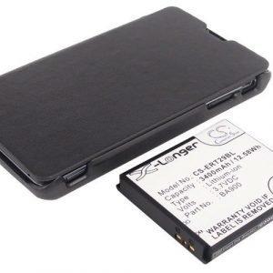 SonyEricsson Xperia TX tehoakku erillisellä laajennetulla mustalla takakannella 3400 mAh