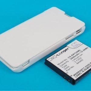 SonyEricsson Xperia TX tehoakku erillisellä laajennetulla valkoisella takakannella 3400 mAh